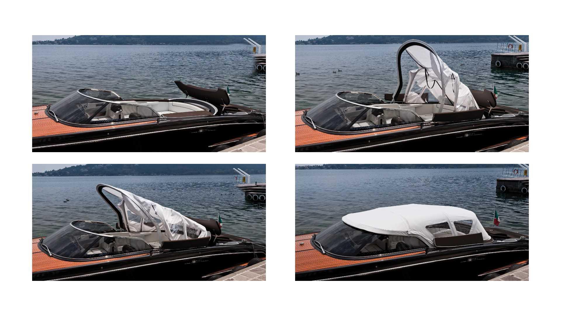 Riva Boote. Hier Riva Iseo mit Bimini Top